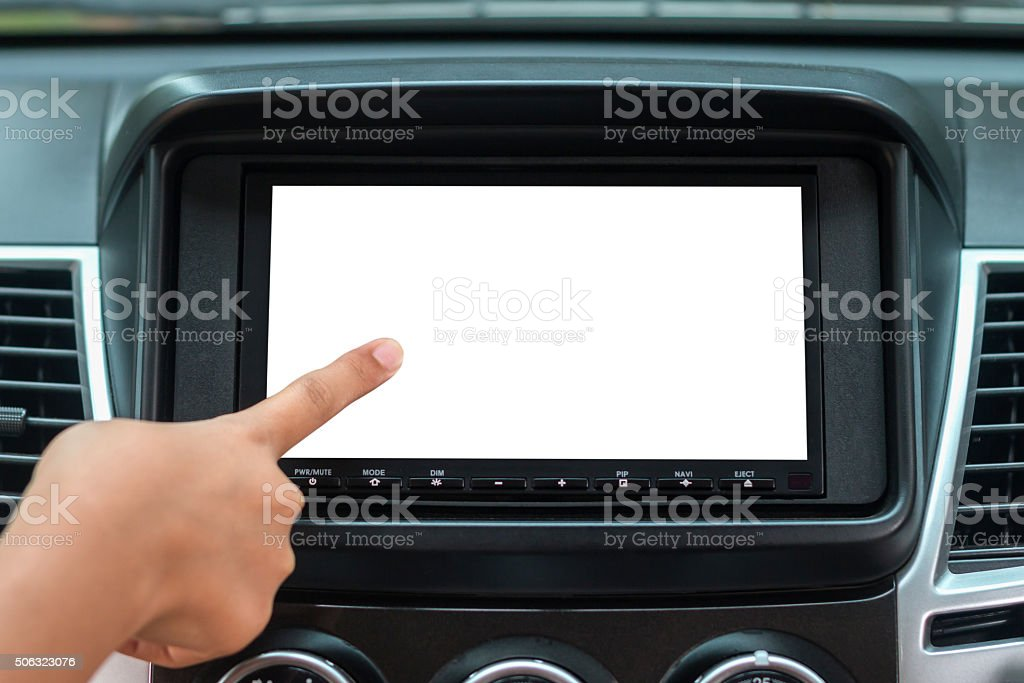 Gps Navigation System In Car stock photo