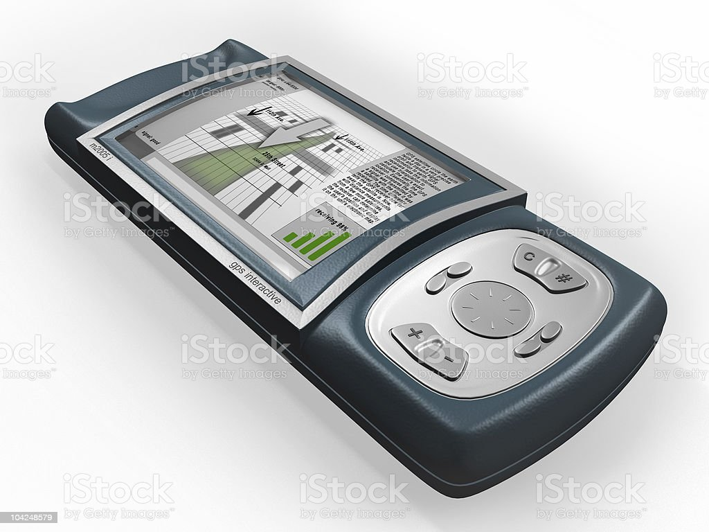gps with large LCD screen stock photo