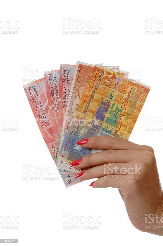 Grab money - Switzerland royalty-free stock photo