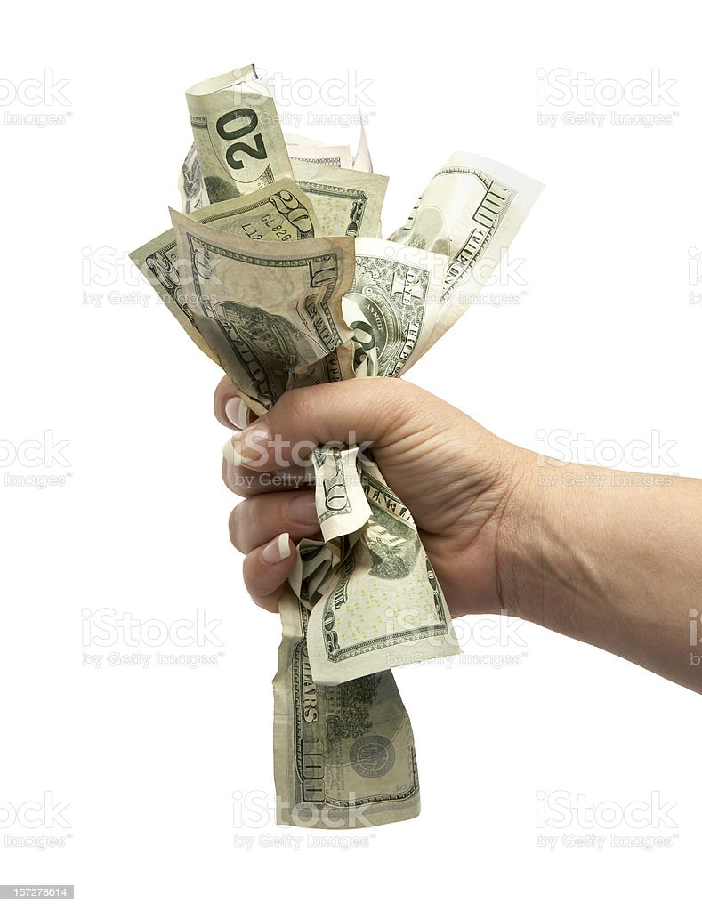 Grab that Money! stock photo