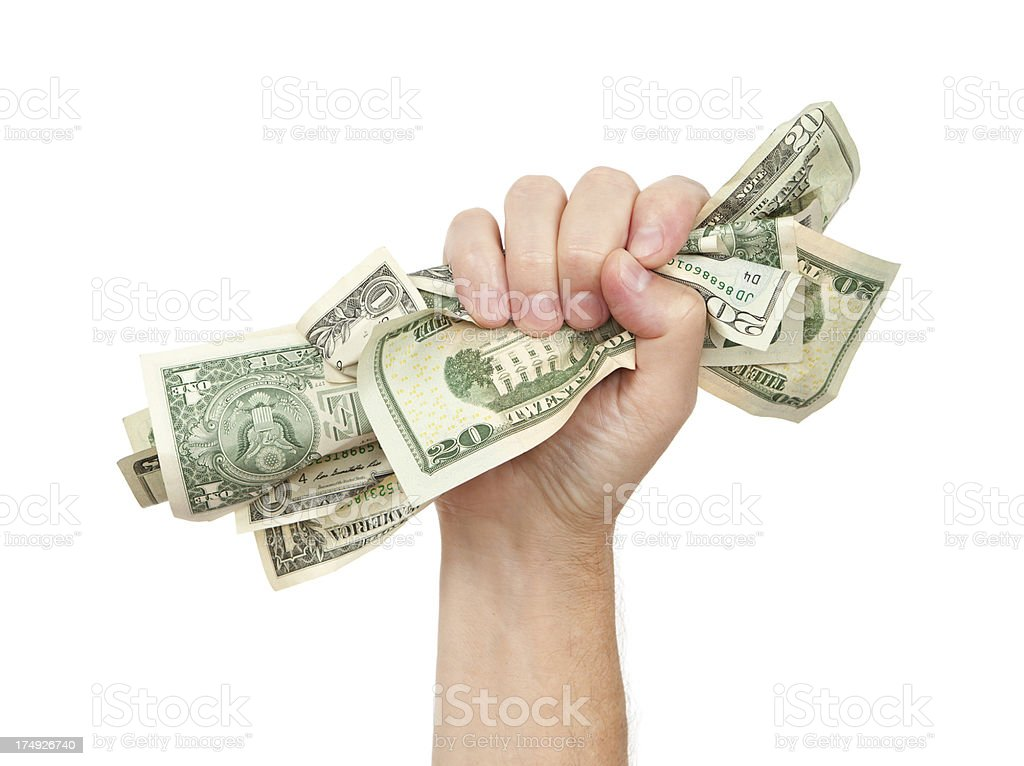 Grab The Money royalty-free stock photo