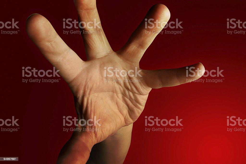 Grabbing hand royalty-free stock photo