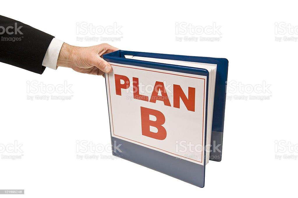 Grabbing Plan B royalty-free stock photo
