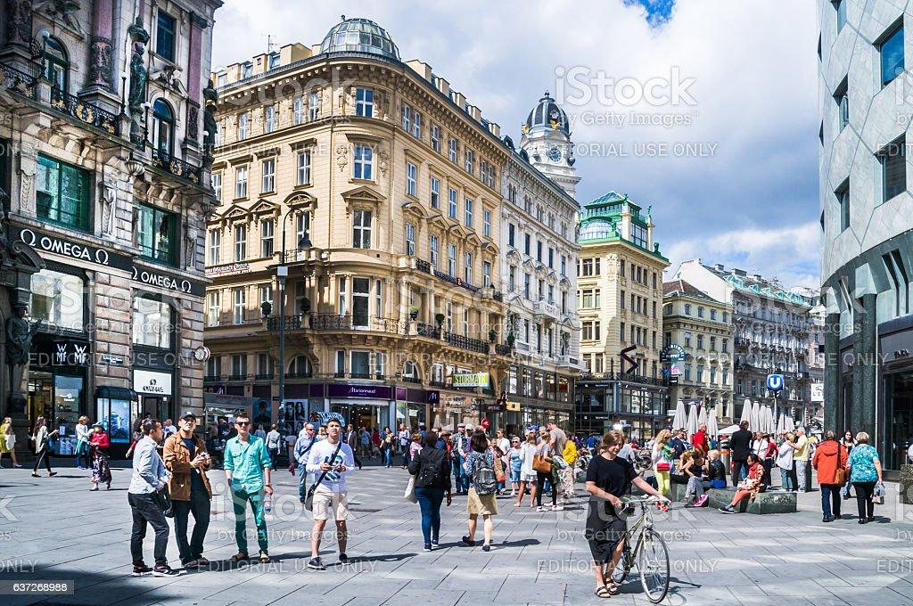 Graben Square Tourism stock photo