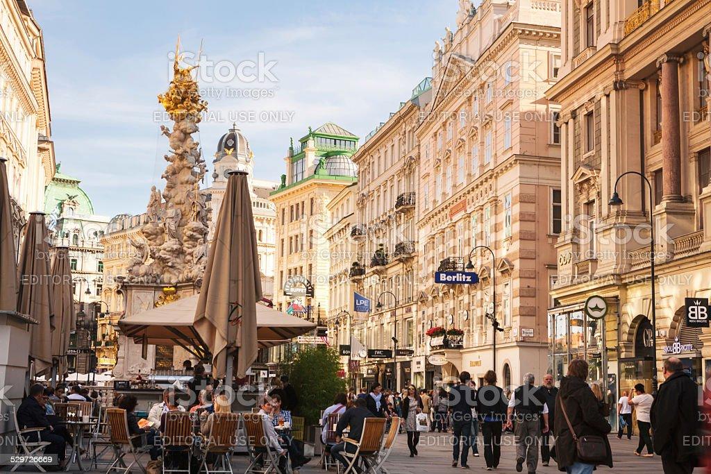 Graben street of Vienna stock photo