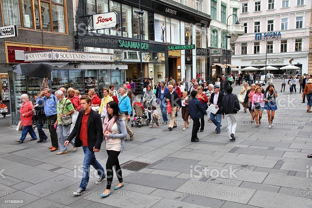 Graben street, Vienna stock photo