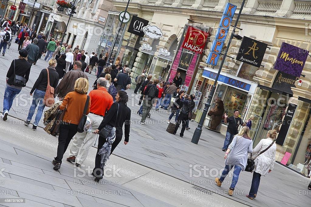 Graben, Vienna stock photo