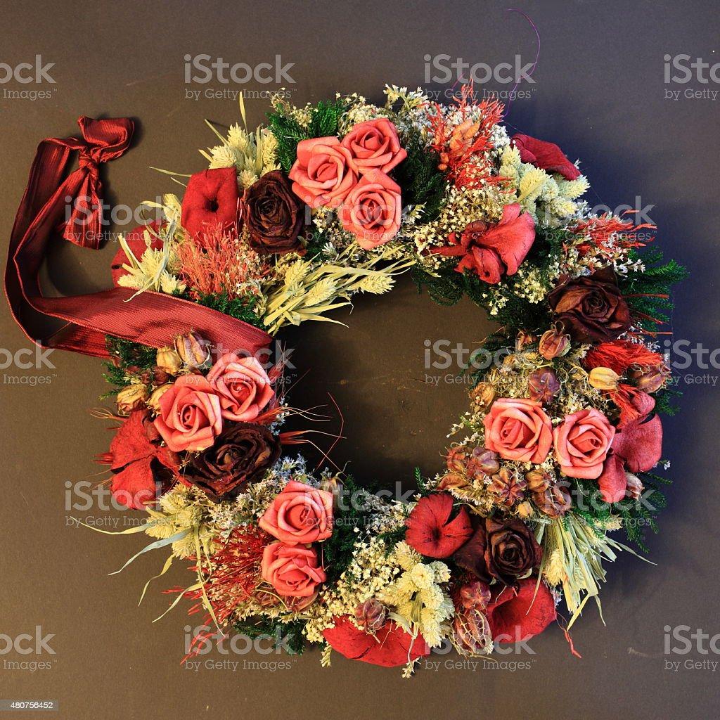 Grabgestecke und Blumendekoration stock photo