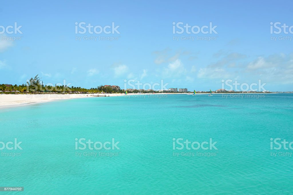 Grace Bay Beach stock photo