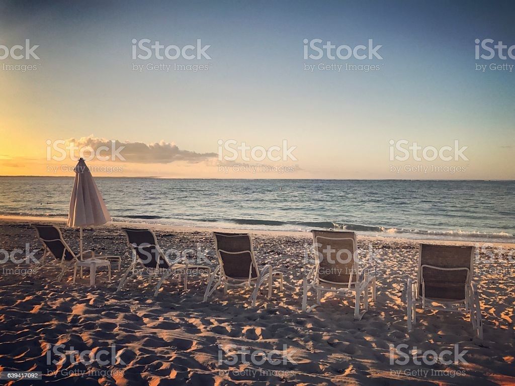 Grace Bay Beach, Turks and Caicos Islands stock photo