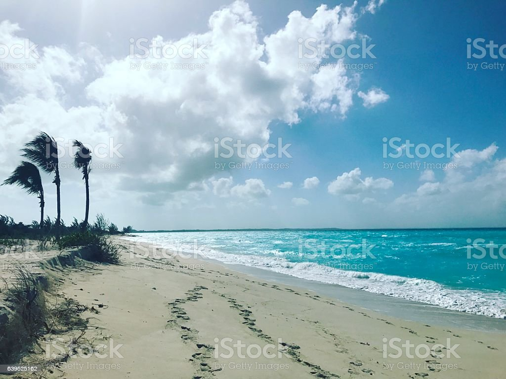 Grace Bay Beach turquoise waters, Turks and Caicos Islands stock photo