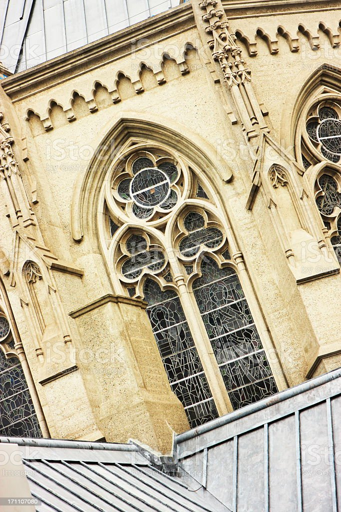 Grace Cathedral Episcopal Church Window Arch royalty-free stock photo
