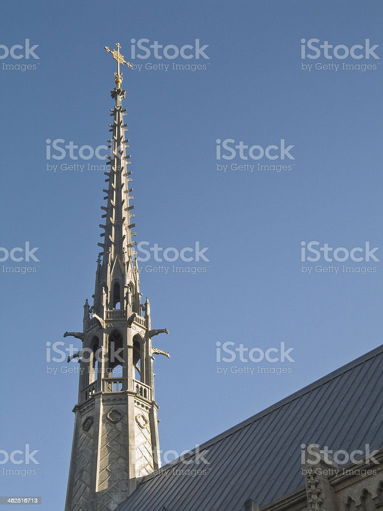 Grace Cathedral Steeple in San Francisco, California stock photo