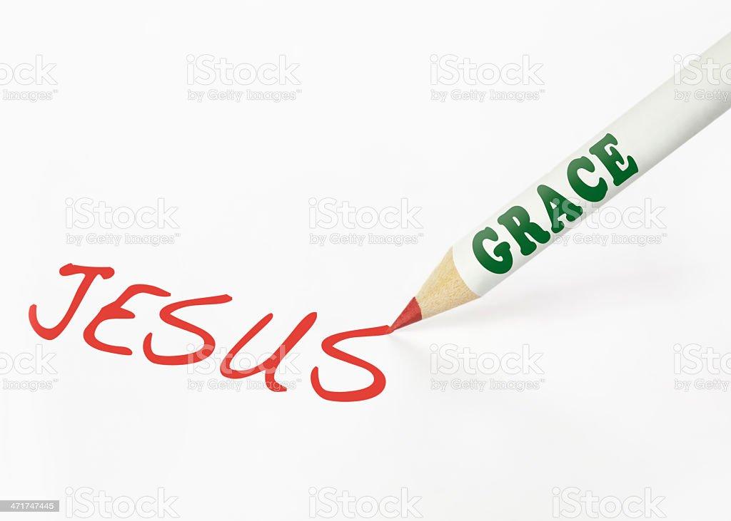 Grace is Jesus royalty-free stock photo