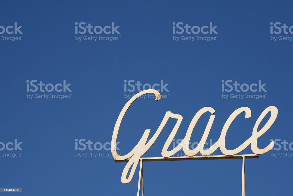 Grace Sign royalty-free stock photo