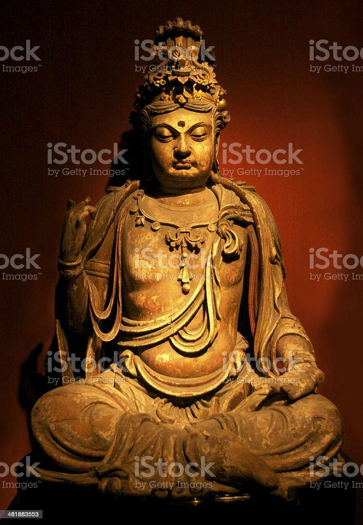 Graceful Guanyin Buddha Statue stock photo