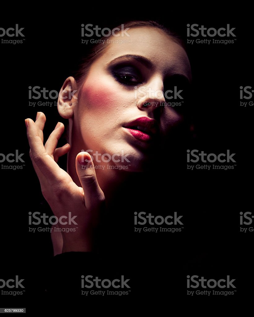 Graceful young woman stock photo