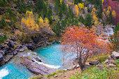 Gradas de Soaso in Arazas river Ordesa valley Pyrenees