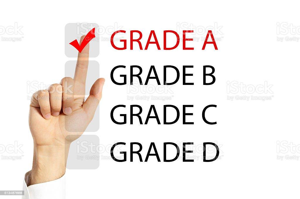 Grade A stock photo