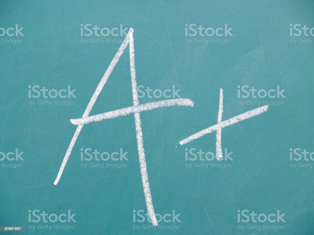 Grade of A+ royalty-free stock photo