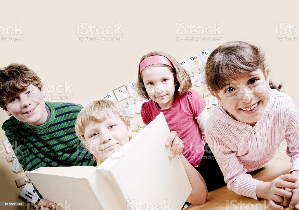 Grade School Students, Education Concept royalty-free stock photo