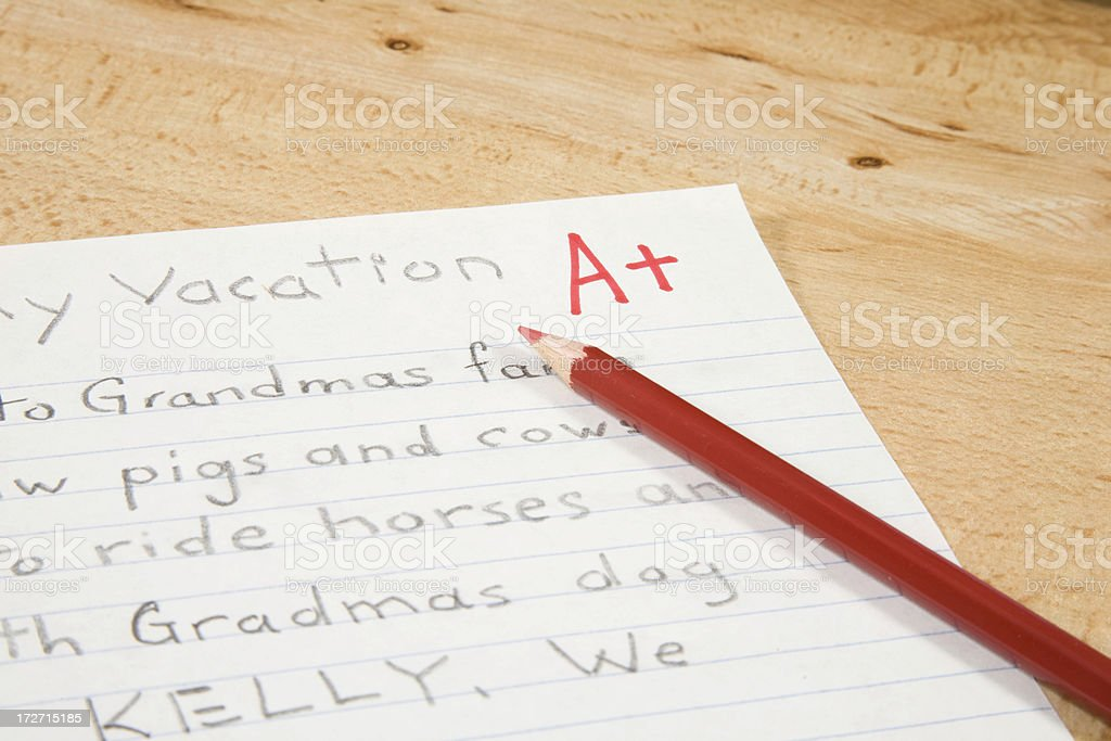 Graded Paper royalty-free stock photo