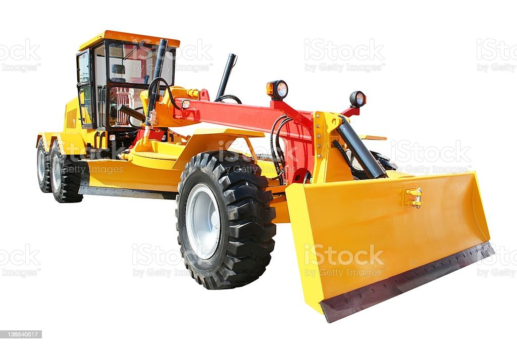 Grader - road scraper stock photo