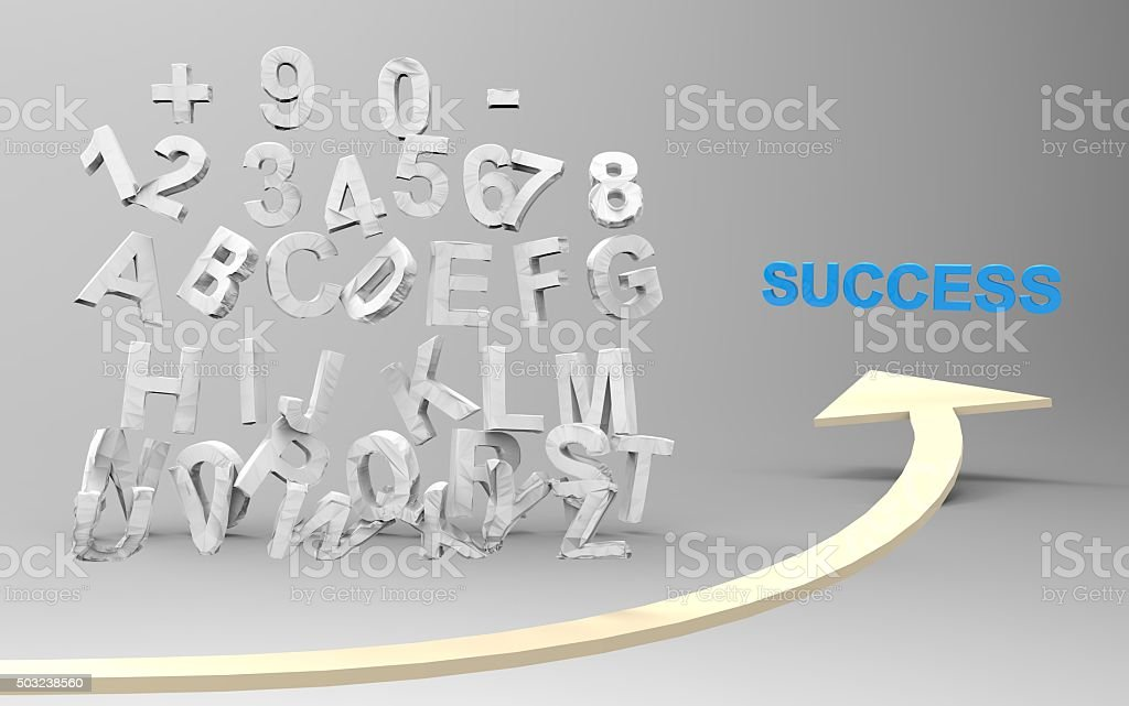 grades results crack, standart breaken find the way to success stock photo