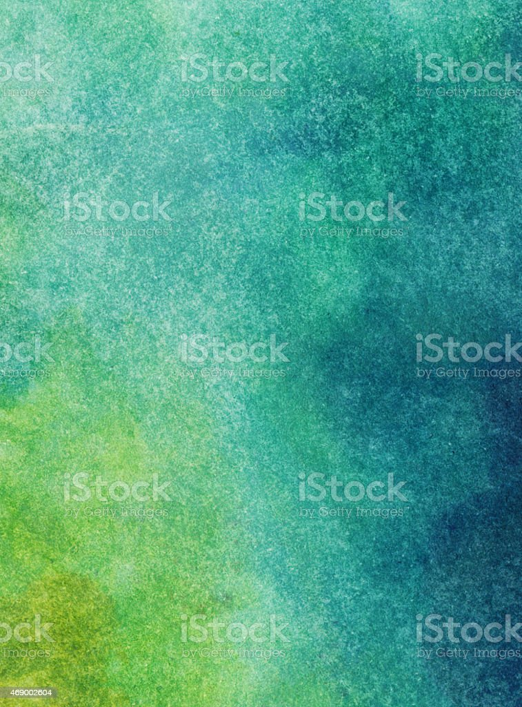 Gradient background handpainted with watercolors stock photo
