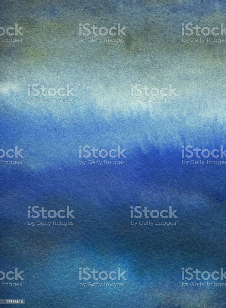 Gradient hand painted background with blues and gray vector art illustration
