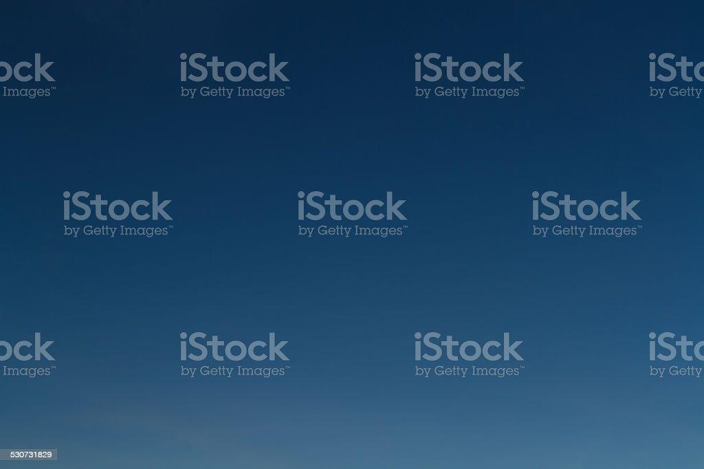 Gradient of night sky stock photo
