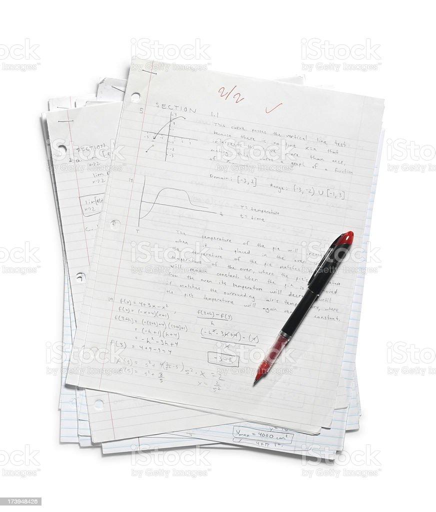 Grading Homework royalty-free stock photo