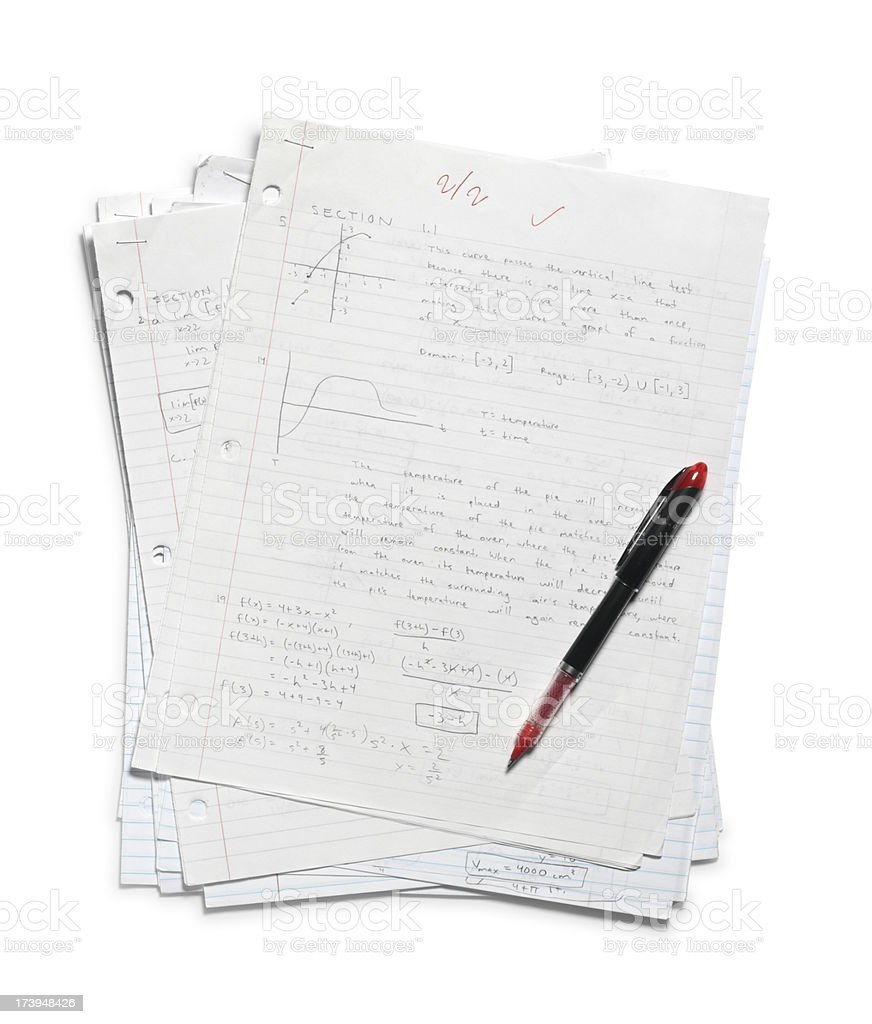 Grading Homework stock photo
