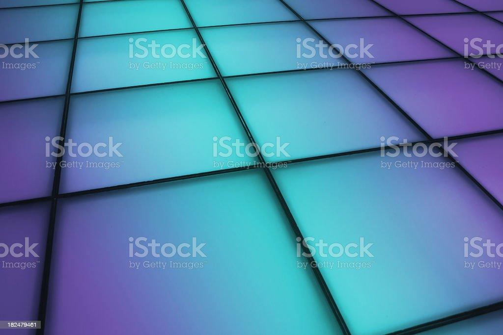 Gradual change effect of dancing floor background stock photo