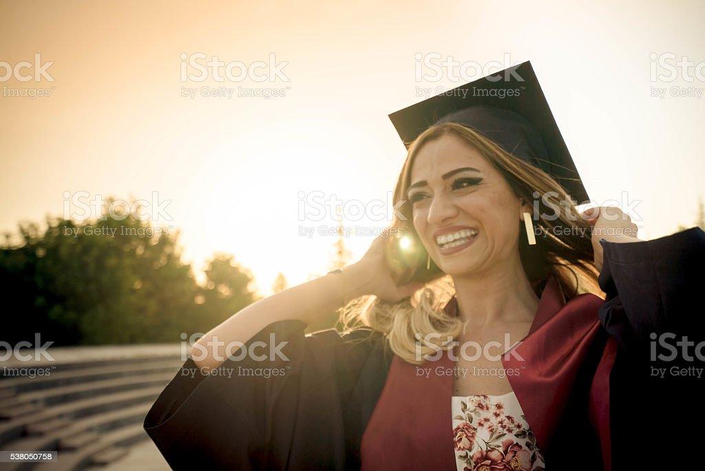 Graduate stock photo
