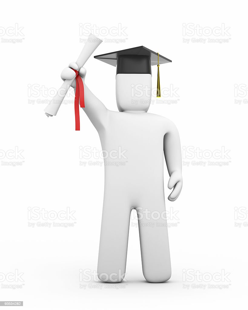 Graduate with diploma royalty-free stock photo