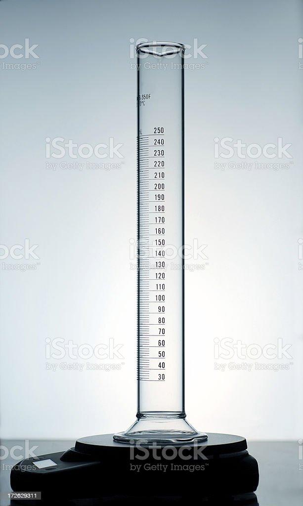 Graduated Cylinder on Balance stock photo