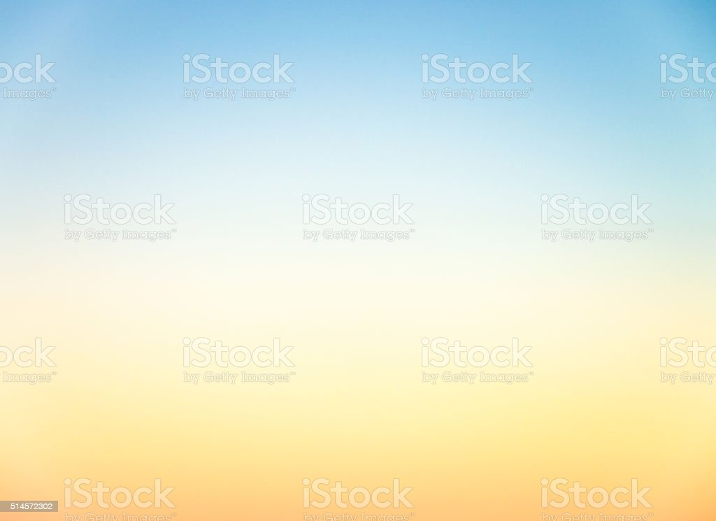 Graduated empty sky horizon at sunset - genuine photograph stock photo
