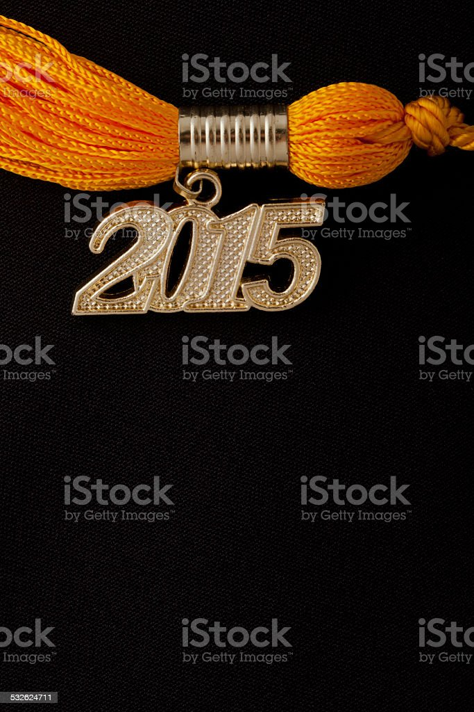 Graduated in 2015 stock photo