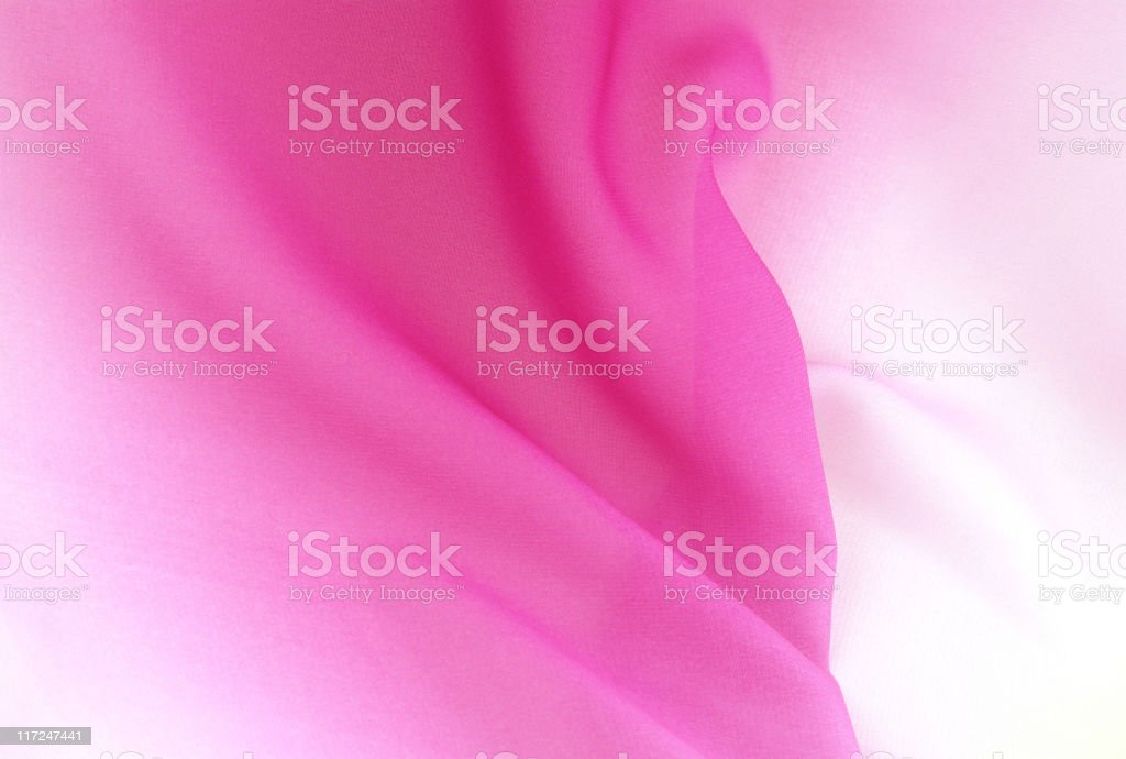Graduated silk from pink to white royalty-free stock photo