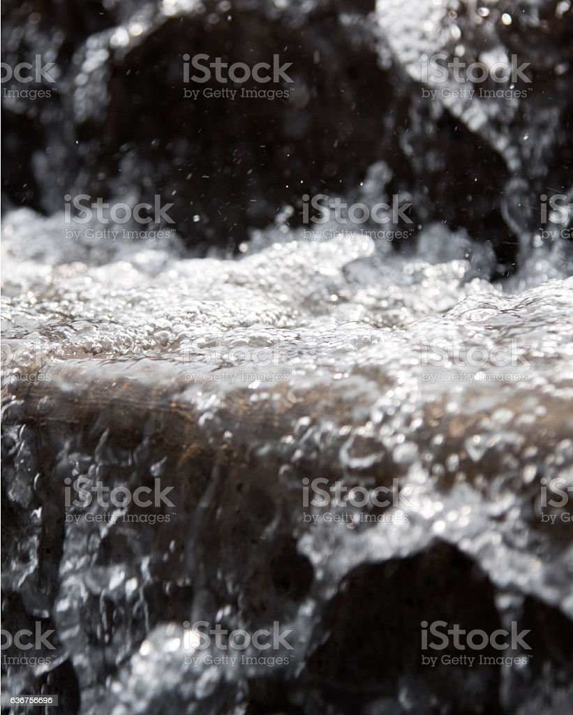 Graduated Step Water Fountain stock photo