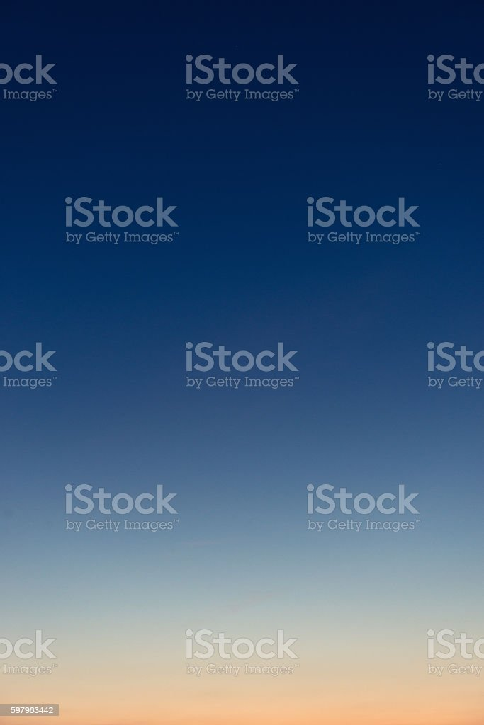 Graduated twilight horizon sky stock photo