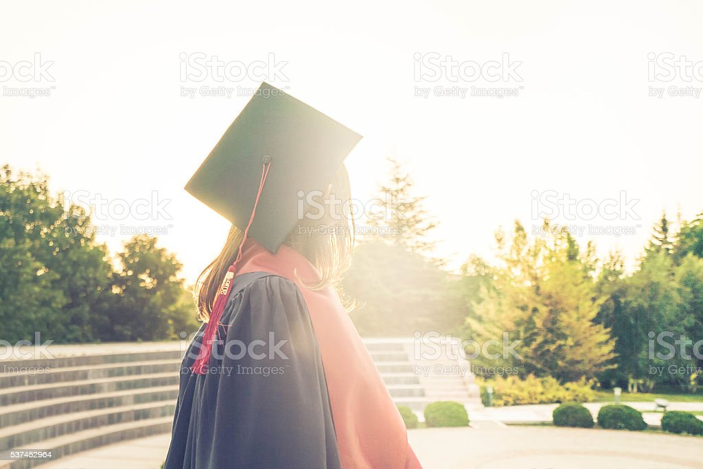 Graduated under sunset stock photo