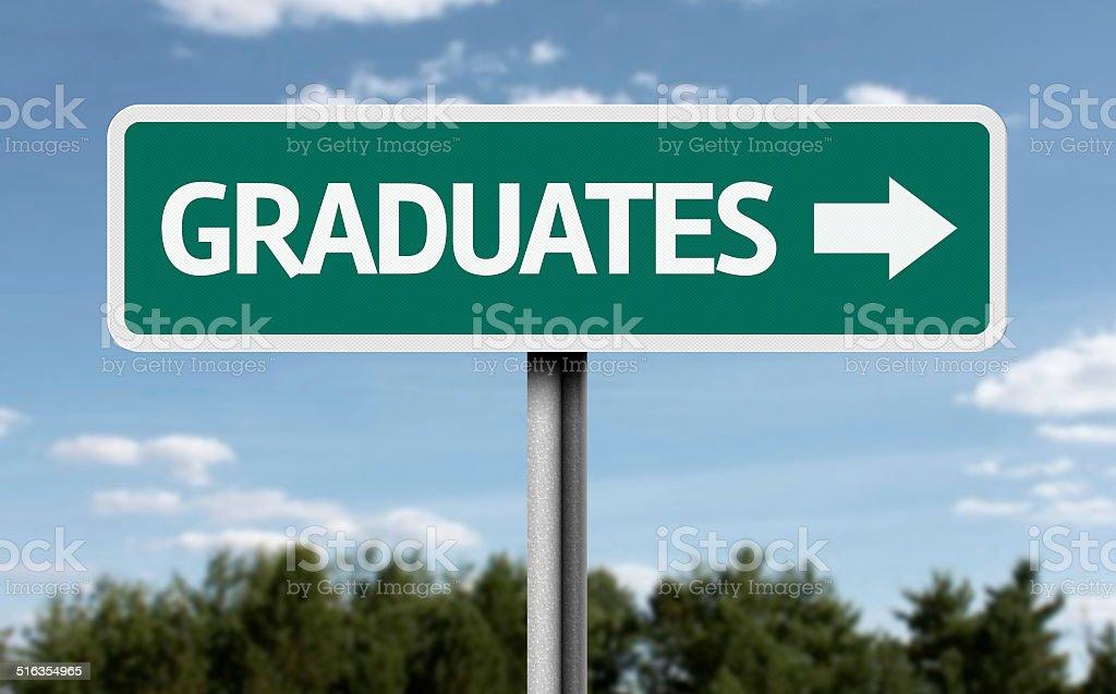 Graduates creative sign stock photo