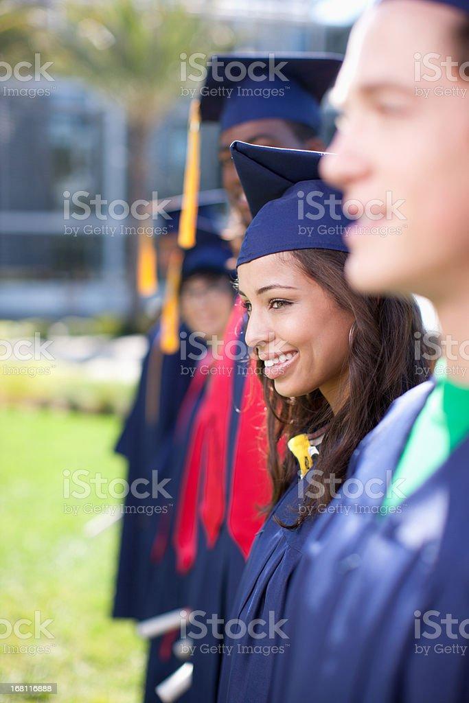 Graduates stock photo