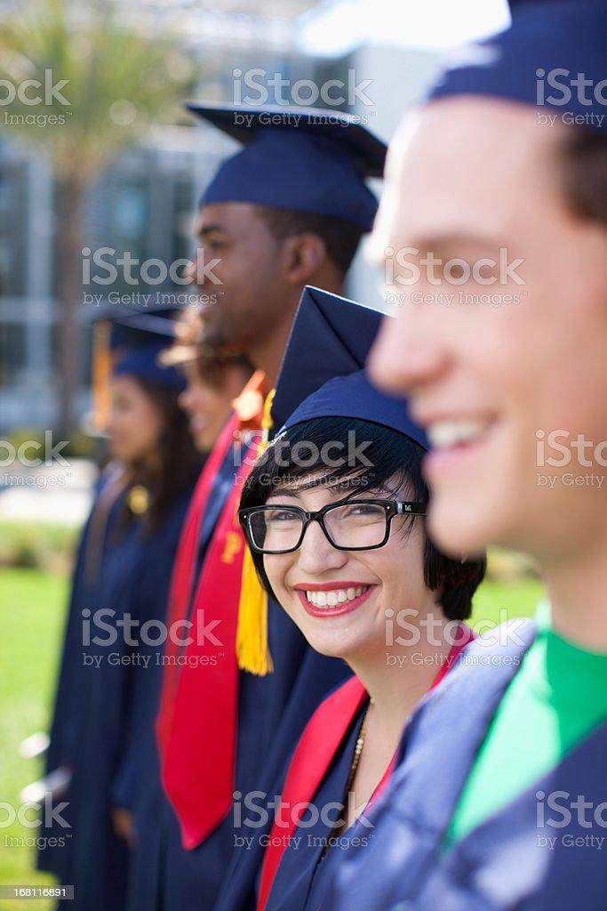 Graduates royalty-free stock photo