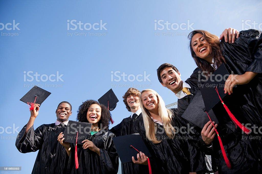 Graduating class royalty-free stock photo