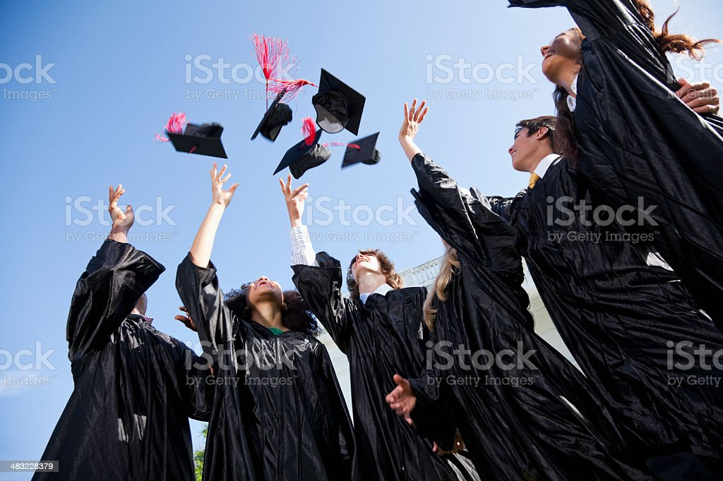 Graduating class royalty-free stock photo