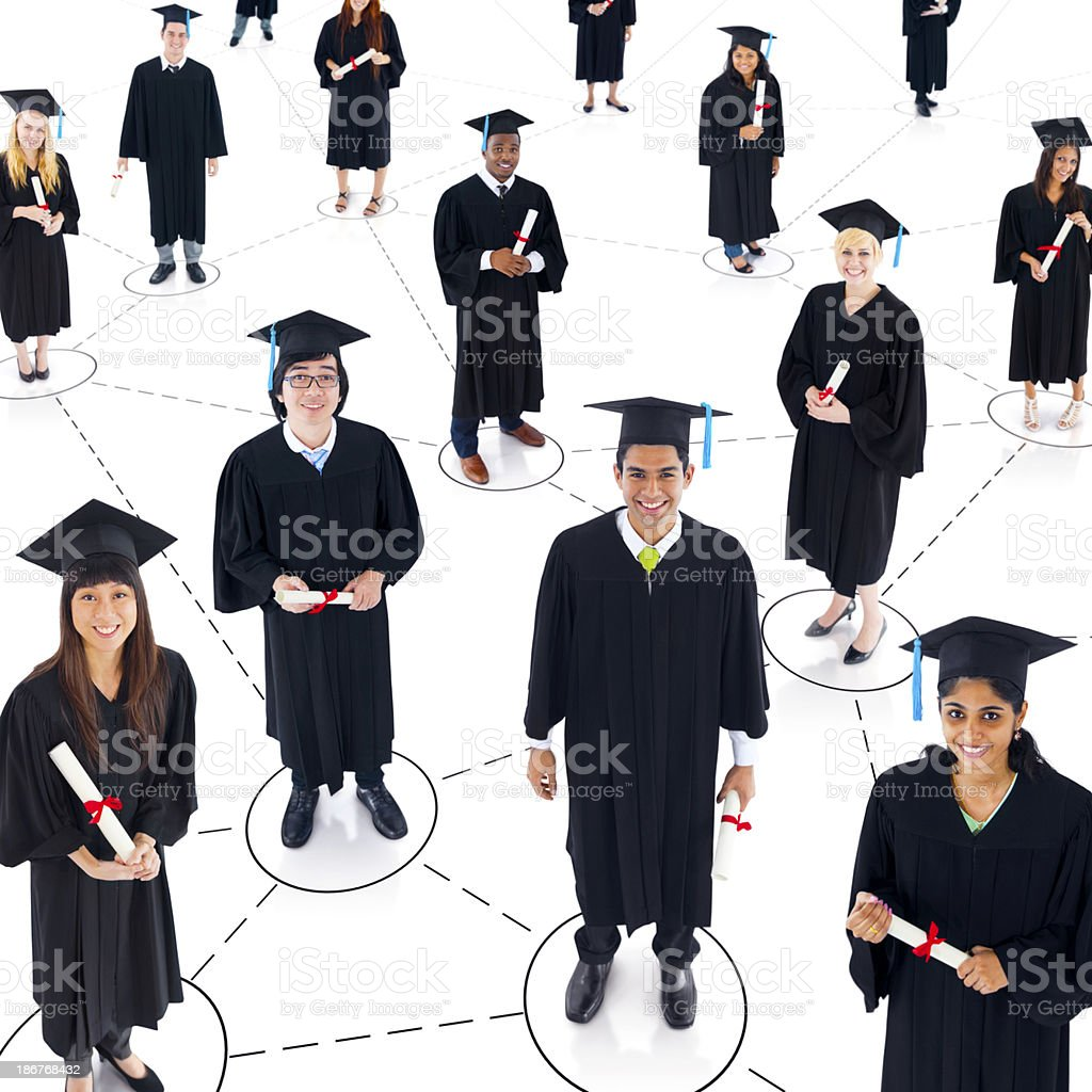 Graduating Connection royalty-free stock photo