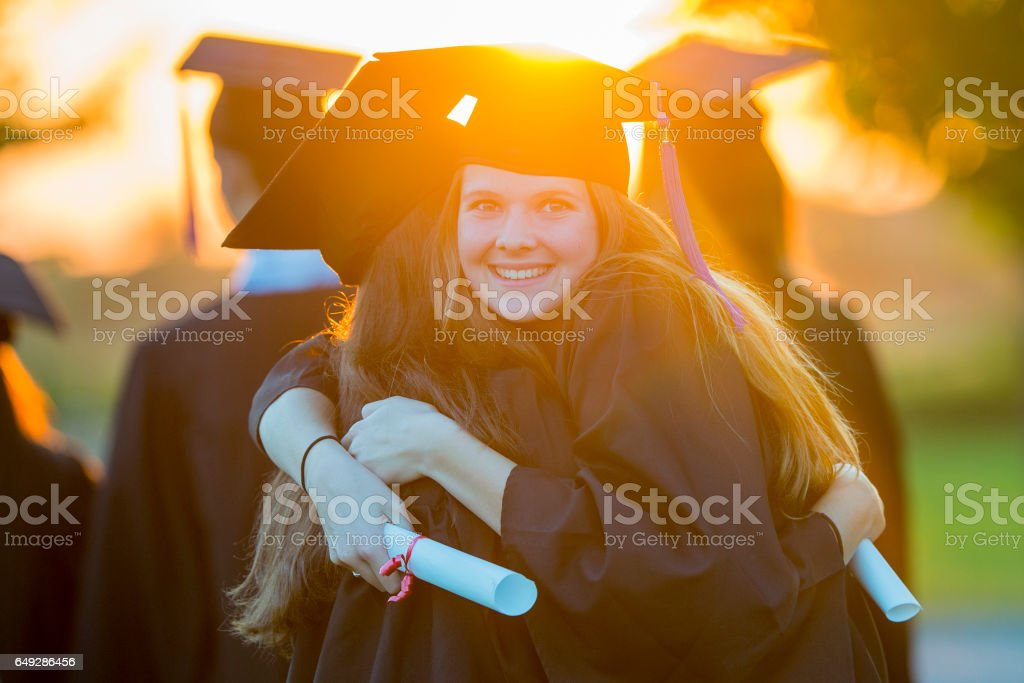 Graduating From High School stock photo